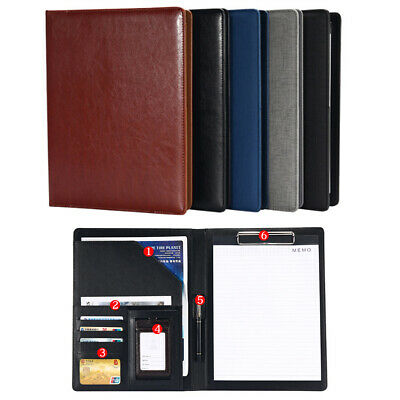 A4 Leather Folder Document Organiser Business Portfolio Case Conference File