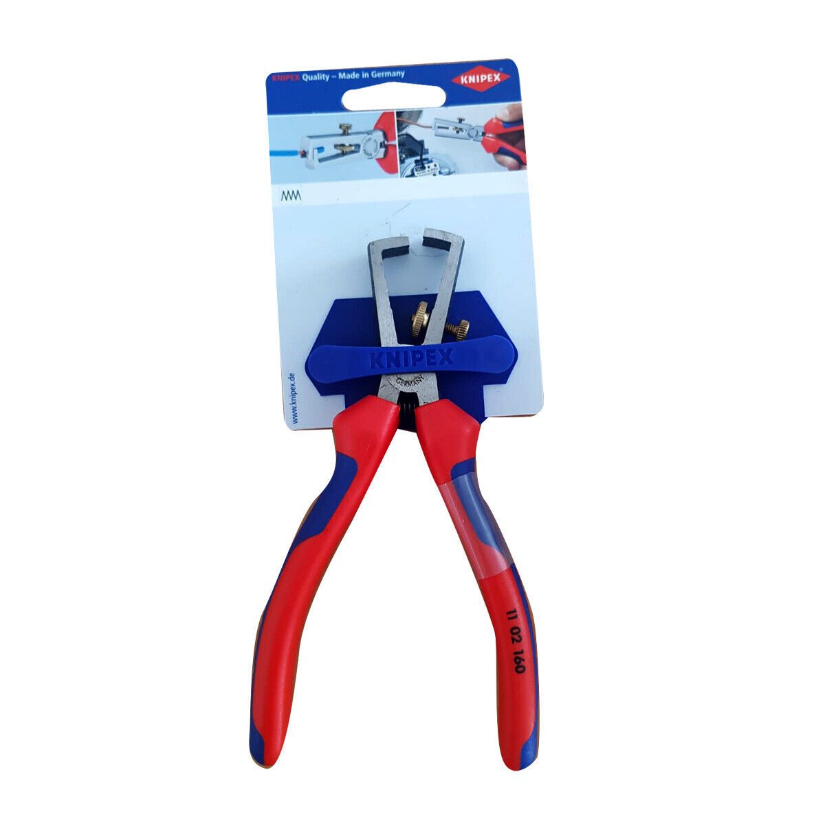 Knipex Abisolierzange poliert 11 02 160 160mm