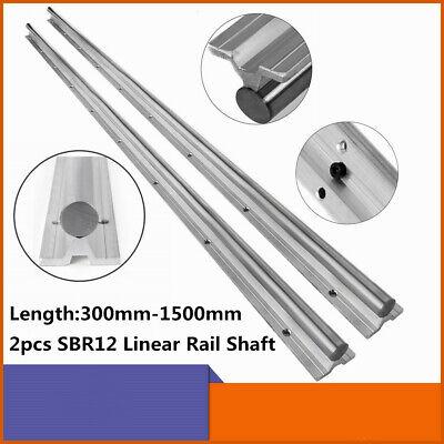 Linear Rail Guide 2pcs Sbr12 L300-1500mm Guideway Rail Fully Suppoeted Shaft Rod