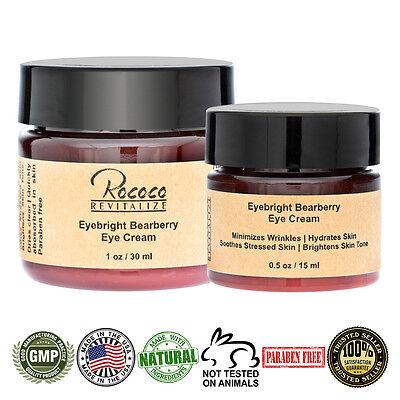 All Natural Eyebright Bearberry Eye Cream for Dark Circles Eye Bags Anti Aging ()