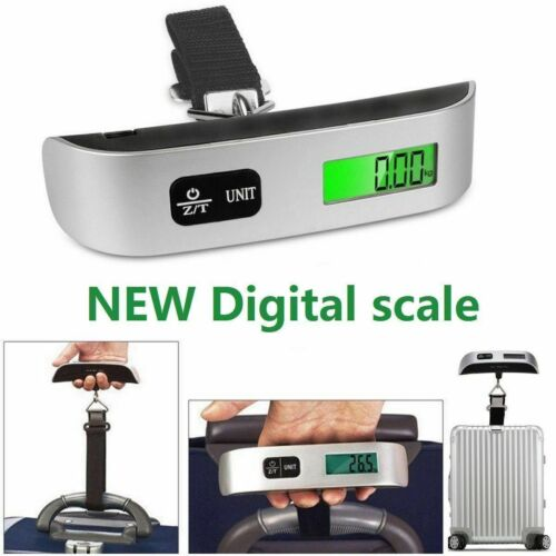 110lb / 50Kg Luggage Scale Digital LCD Portable Travel Weight Scale Hand-Grip US Luggage Accessories
