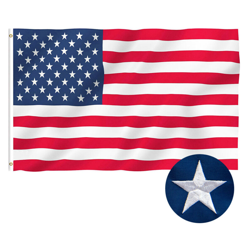American Flag 4 X 6FT US Oxford Fabric Flag Embroidered Stars and Sewn Stripes