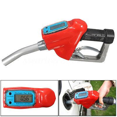 Fuel Gasoline Diesel Petrol Oil Delivery Gun Nozzle Dispenser+Digital Flow Meter
