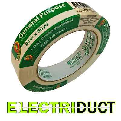 General Purpose Masking Tape - 0.94 X 60 Yd - Duck Tape