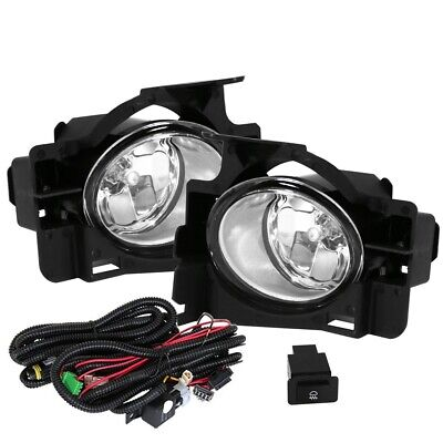 Fit 08-12 Nissan Altima 2 Door Front Fog Lights Clear H11 Bulbs Wiring+Switch (Nissan Altima 08)