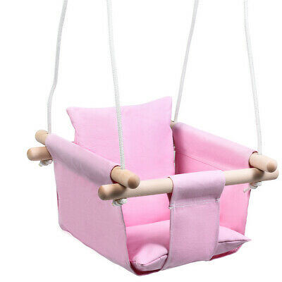 Baby Canvas Hanging Swing Home Garden Cotton Hammock Toy Kids Gift Pink