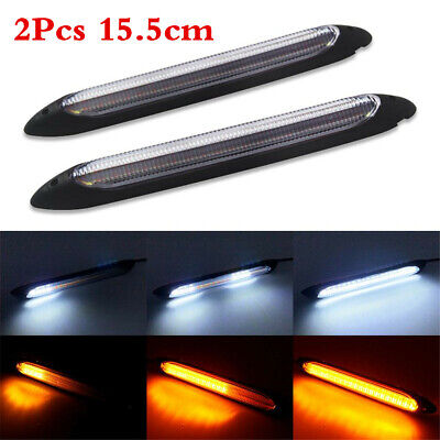 Sequential Flow LED Strips Car Headlight Daytime Running Light Turn Signal Lamp