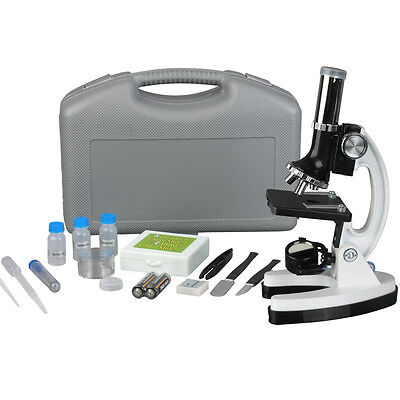 AmScope Kids M30-ABS-KT1-W 300X-600X-1200X 48pc Metal Frame Compound Microscope on Rummage