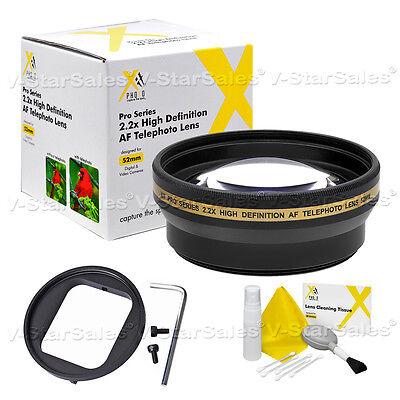 52mm Pro Series 2.2x HD AF Telephoto Lens Kit for Gopro Hero3 Hero4