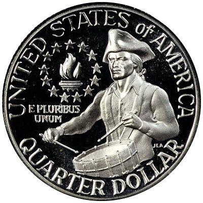 1976 S PROOF Washington Quarter Dollar, 40% SILVER , Bicentenial, Deep Cameo !