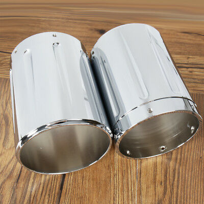Chrome Shallow Cut Exhaust tips For Victory Hardball Cross Country Roads Vision