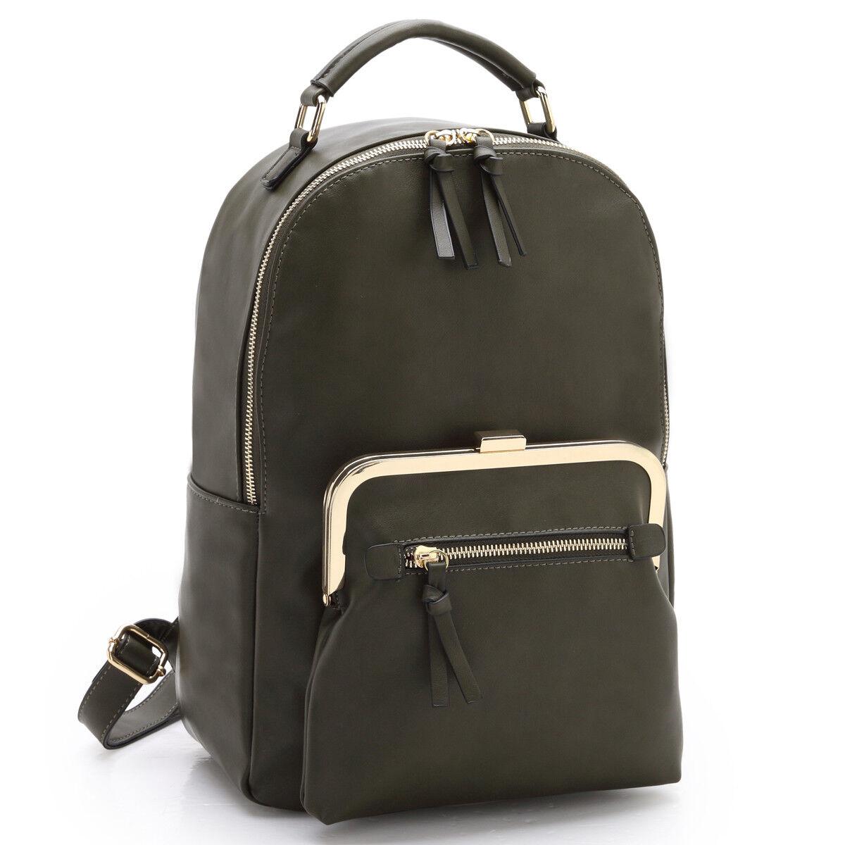 new women handbag faux leather backpack rucksack