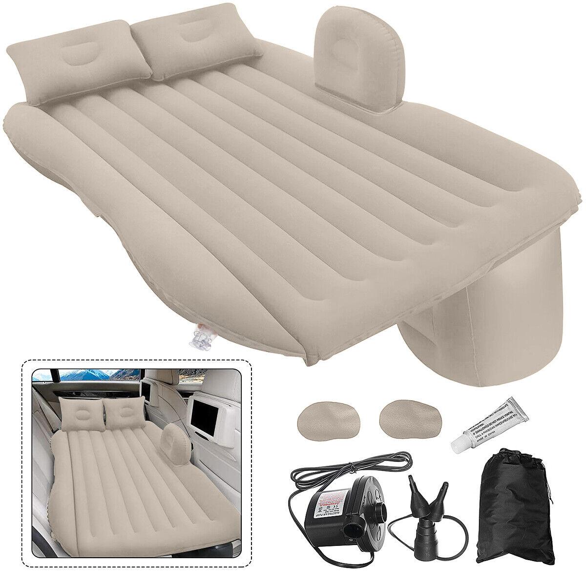 soft flocked pvc car inflatable bed back