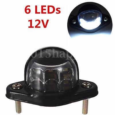 12V 6  LED Rear Tail Number Plate License Light LAMP CAR Van Trailer Truck Lorry