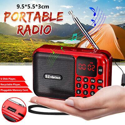 US Portable Digital FM Radio Receiver Mini Speaker MP3 Music Player USB TF  USA