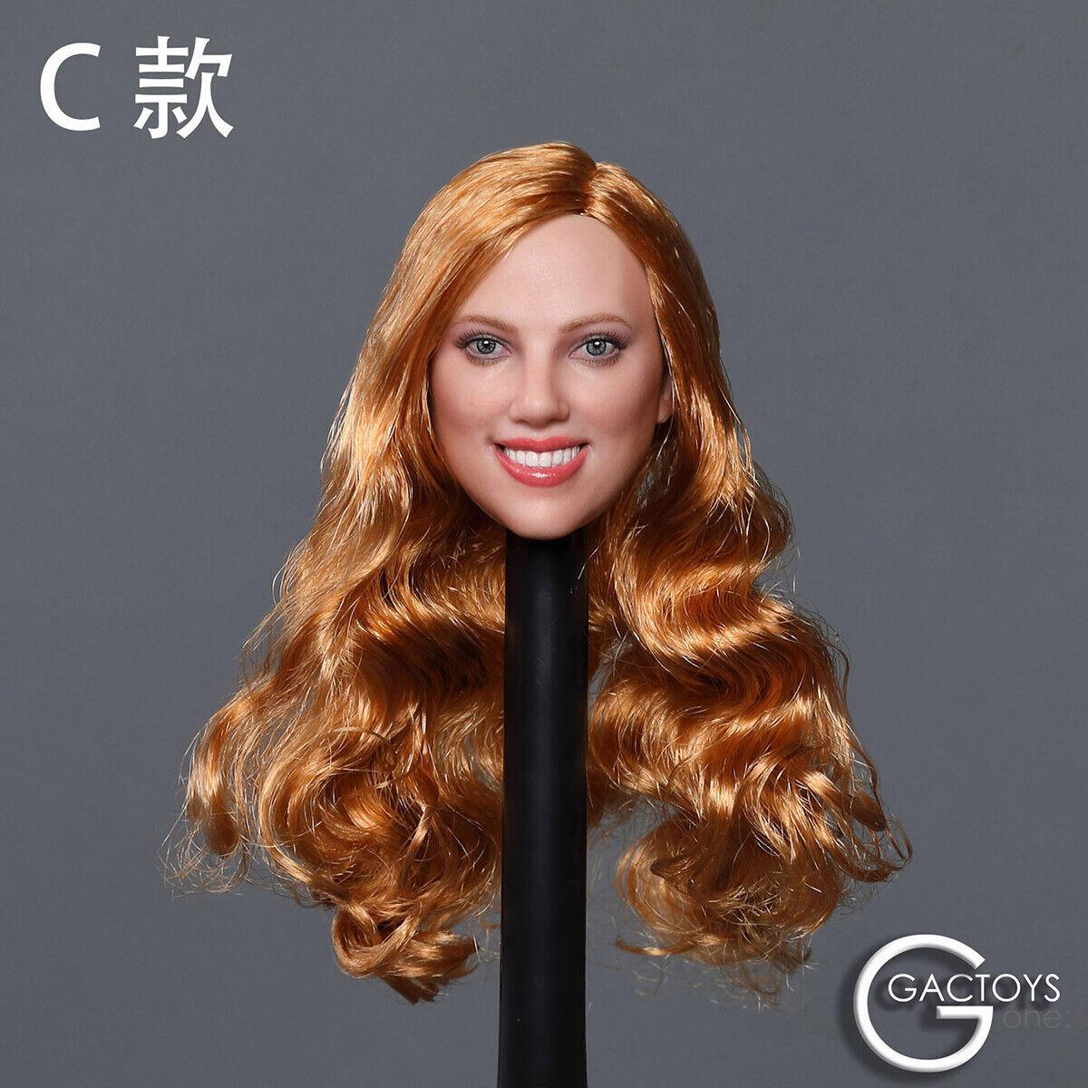 "GACTOYS GC035C 1//6 Smile Girl Long Hair Head Carving Head Model F 12/""Body"