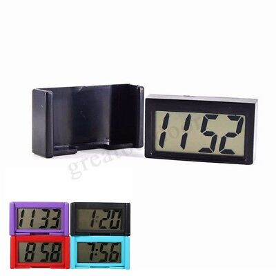 Digital LCD Home Office Table Car Dashboard Desk Date Time Calendar Small Clocks