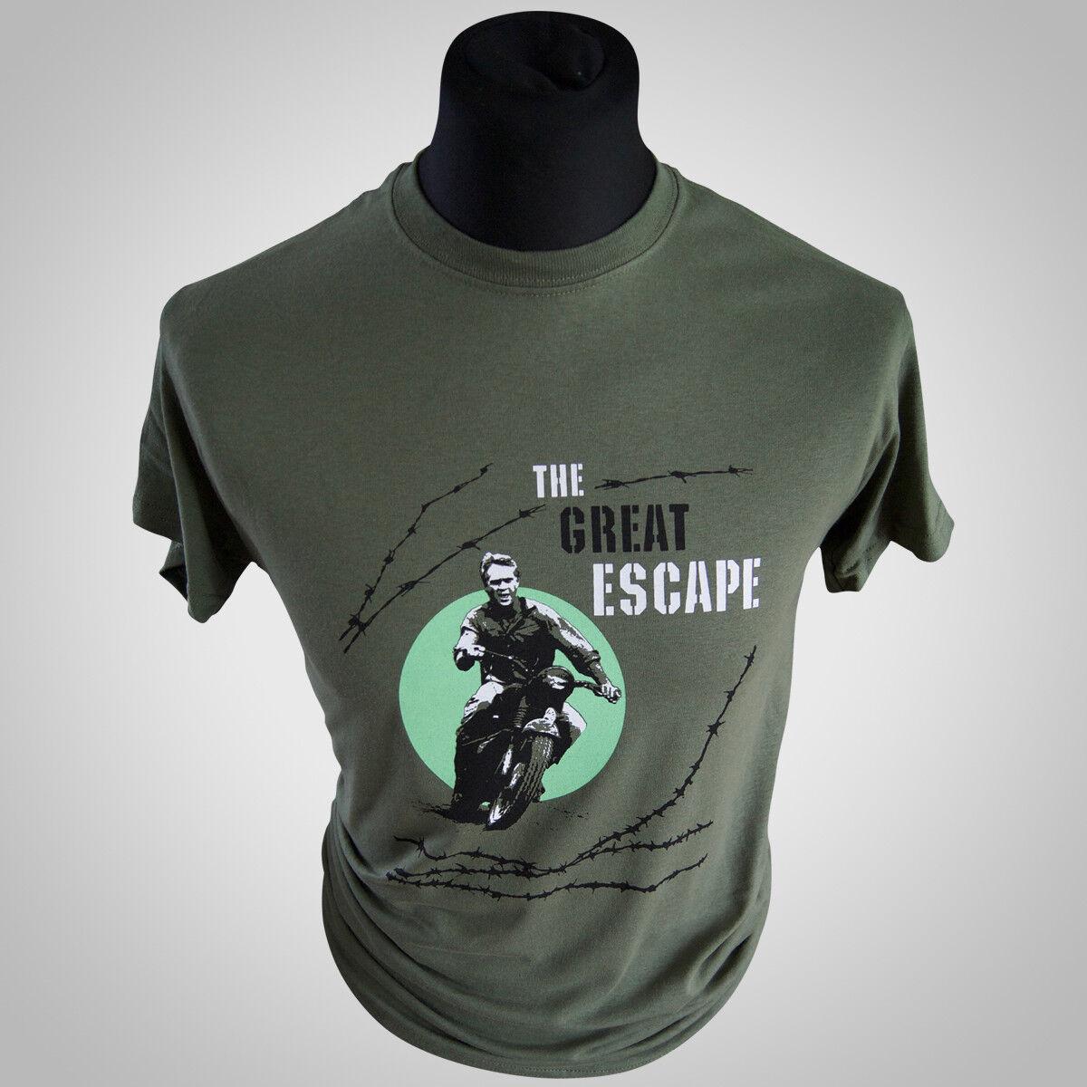 The Great Escape T-Shirt Steve Mcqueen S-XXL T-Shirts