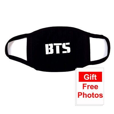 Kpop BTS Cottion Black Fashion Face Mask Reusable Washable with Store Gift Free