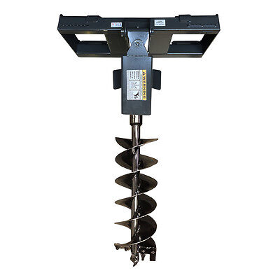 Skid Steer Auger And Quick Attach Frame 12 Bit Included - Sale