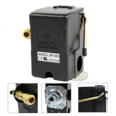 Heavy Duty 25 Amp Air Compressor Pressure Switch Control Valve 95-125 Psi