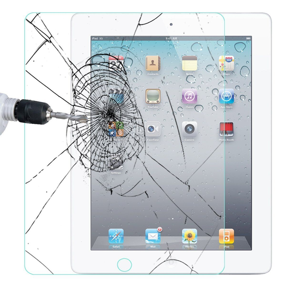Купить 2x Tempered Glass Screen Protector For Apple iPad 2 3 4 Pro 9.7 Mini Air 5 2017