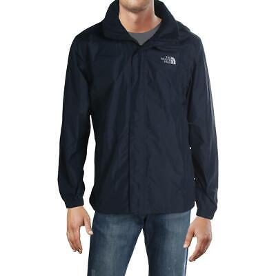 The North Face Mens Navy Hooded Casual Waterproof Coat Outerwear L BHFO 7550