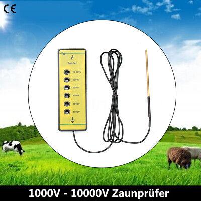 Electrical Fence Voltage Tester 1000v -10000v Fencing Poly Wire Energiser