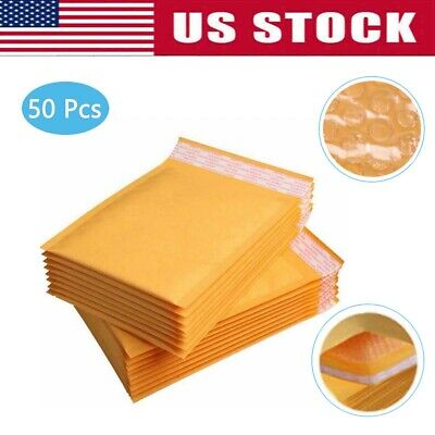 30 Pcs Yellow Kraft Bubble Mailers Padded Envelopes Shipping Bags Self Seal 5 X8