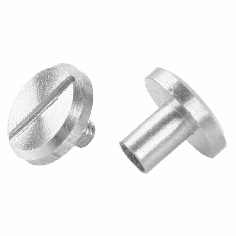 10Pcs Flat Head Solid Chicago Screws Round Metal Screw Nail Rivet Tack Button US