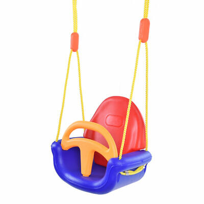 3-in-1 Infant to Toddler Swing Set Secure Detachable Outdoor