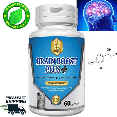 Brain Boost Supplement Pills Better Mental Focus Memory Concentration