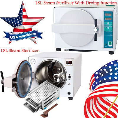 18l Dental Autoclave Steam Sterilizer Medical Sterilization Dry Heat Sterilizer