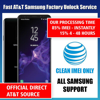 FACTORY UNLOCK CODE SERVICE AT&T ATT for SAMSUNG GALAXY S8 S7 S6 S5 S4 S3 NOTEs comprar usado  Enviando para Brazil