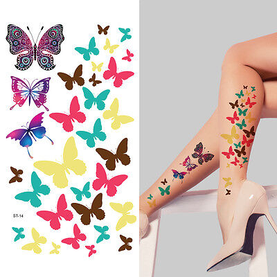 Supperb® Temporary Tattoos - Colorful Butterflies, Christmas Temporary Tattoo - Christmas Tattoos