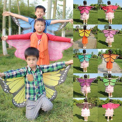 Kids Butterfly/Bat Wings Shawl Cape Stole Scarf Wrap Funny Dress Party Costume](Kids Bat Costumes)