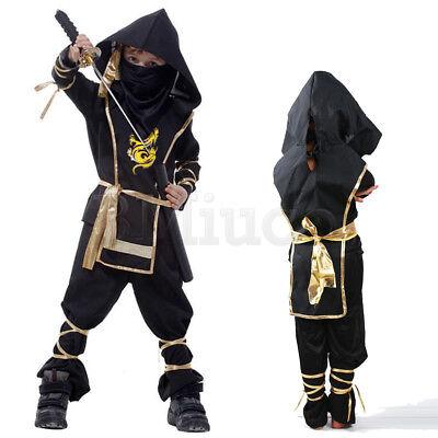 y Costume Shinobi Boys Girls Children Ninja Superhero Set DE (Ninja Girl Kostüme)