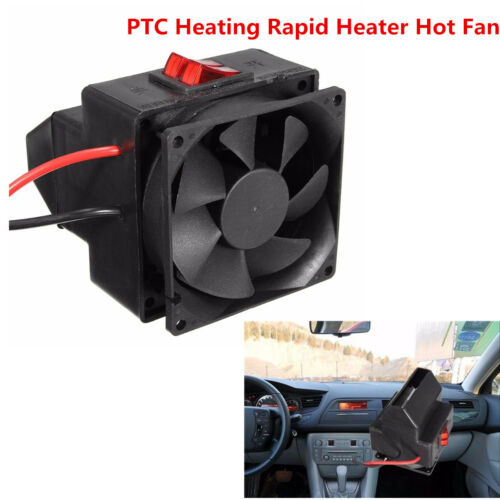 300W Car Vehicle PTC Heating Rapid Heater Hot Fan Defroster Demister Black 12V