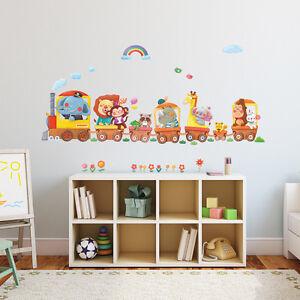 Decowall Animals Train Nursery Kids Removable Wall Stickers Decal DA-1406A