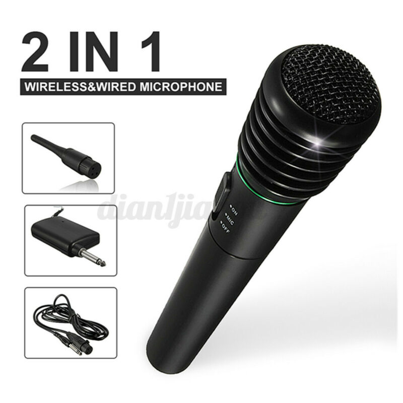 2 in 1 Wireless Microphone Handheld Pro MIC Karaoke System Home Studio Karaoke