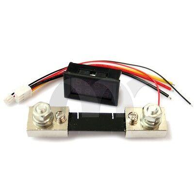 100A 100V Car DC Digital Voltmeter Ammeter LED Amp Volt Meter + Current Shunt
