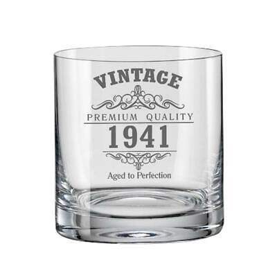 Vintage 1941 80th Geburtstag Bohème Whisky Glas