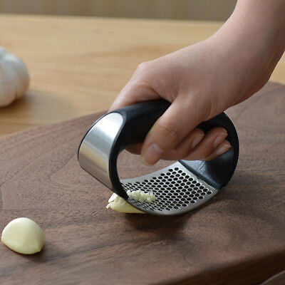 Stainless-Steel Manual Garlic Press Crusher Squeezer Masher Home Kitchen Tools