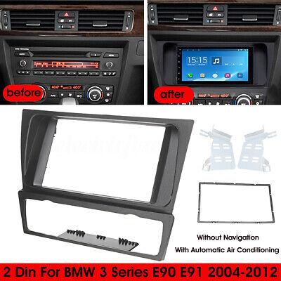CD RADIO STEREO DOUBLE DIN STEREO FACIA SURROUND TRIM FITS BMW 3 SERIES E90 E91