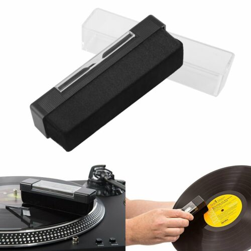 Anti Static Vinyl CD Record Cleaning Cleaner Pad Brush Audio Stylus Dust Remover