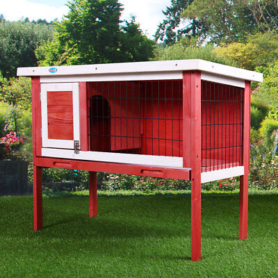 "36"" Wooden Chicken Coop Hen House  Rabbit Wood Hutch Poultry Habitat Cage"