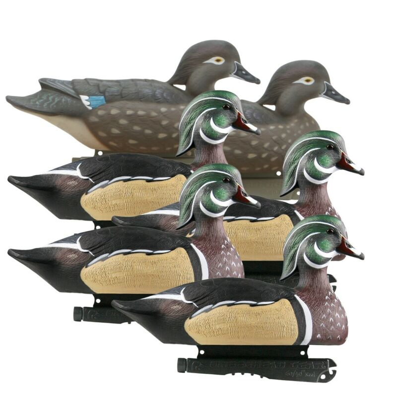 GHG Life Size Wood Duck Decoys 6 Pack
