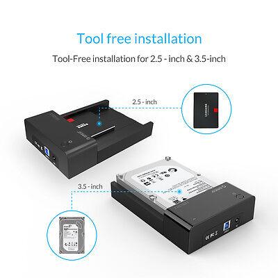 ORICO SATA to USB 3.0 2.5 /3.5 inch HDD Hard Drive Docking Station Enclosure BK