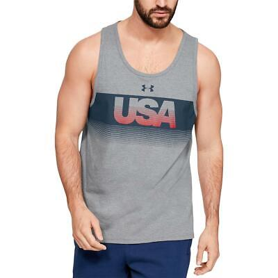 Under Armour Mens USA Gray Fitness Running Tank Top Athletic XL BHFO 2024