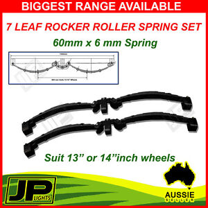 7 LEAF ROCKER ROLLER TANDEM TRAILER SPRING SET 3.0T. CARAVAN, HORSE FLOAT
